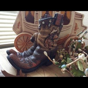 Western theme resin boots